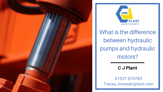 What is the difference between hydraulic pumps and hydraulic motors?